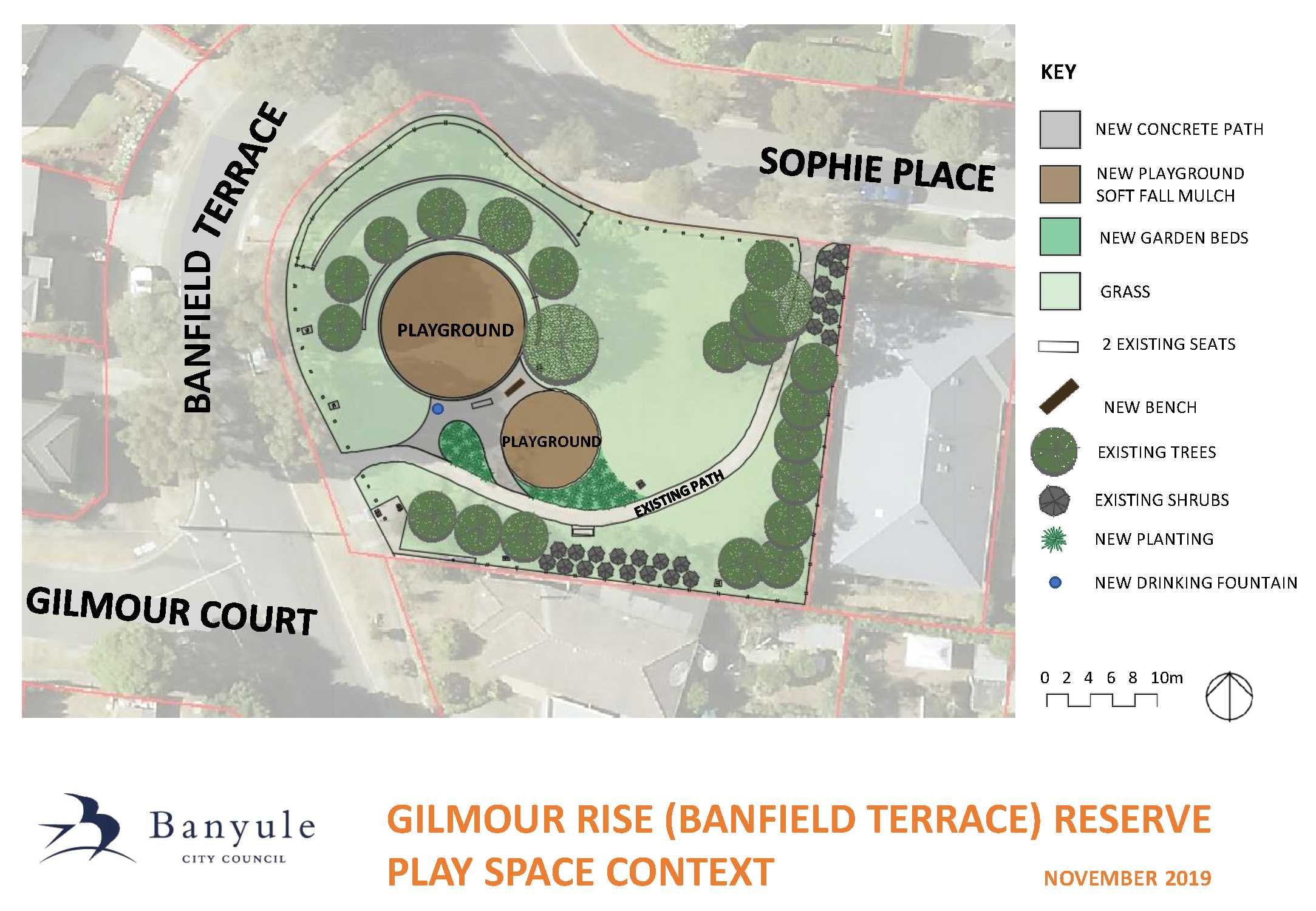 Gilmour Rise Reserve playground context