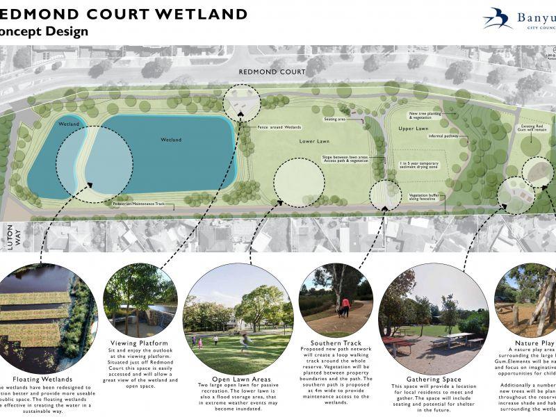 Redmond Crt Wetland Reserve Concept Plan