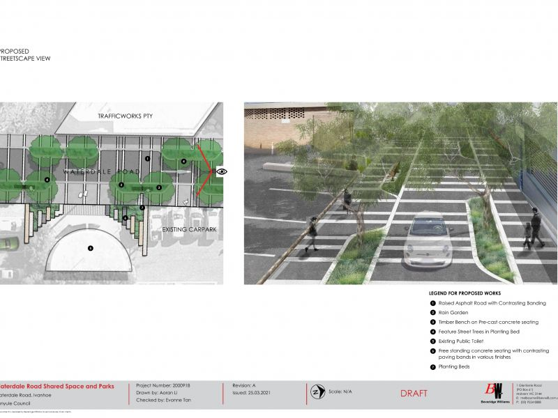 Proposed Waterdale Road Streetscape view render