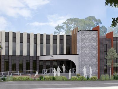 Rosanna Library - Front Render
