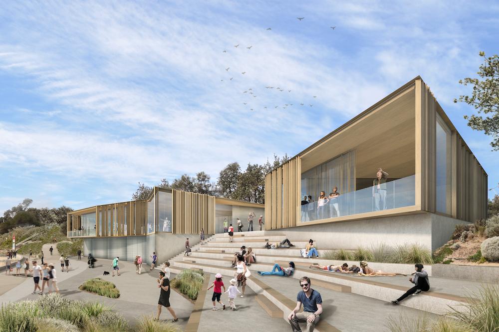Artist's render of Dendy Beach Pavilion