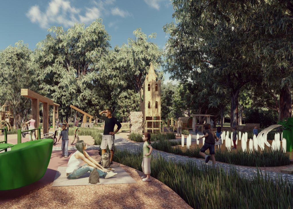 Artist's impression of new playground #3