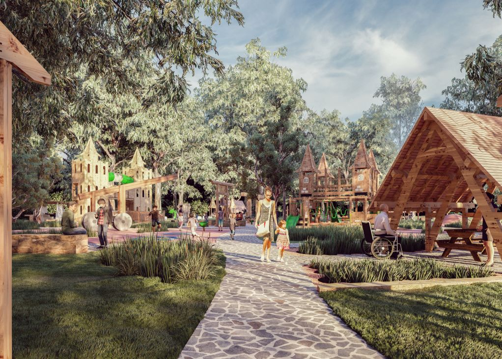 Artist's impression of new playground