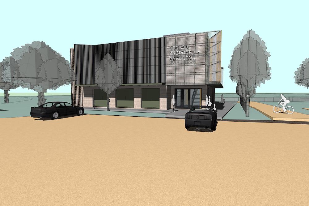 Artist's render of Donald MacDonald Pavilion