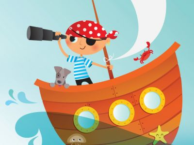cartoon depiction of a pirate