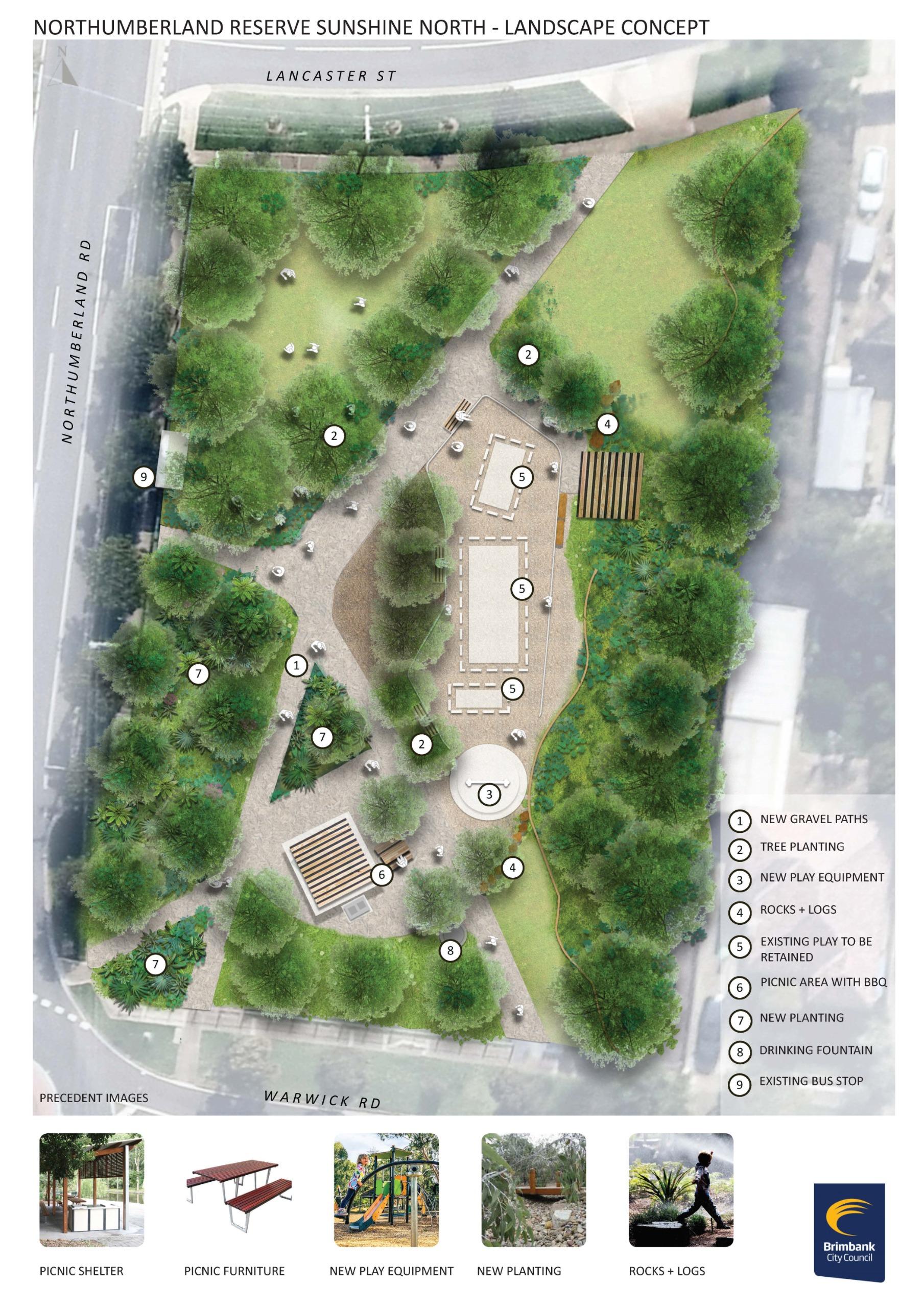 Northumberland Reserve Sunshine North - Landscape Concept Plan