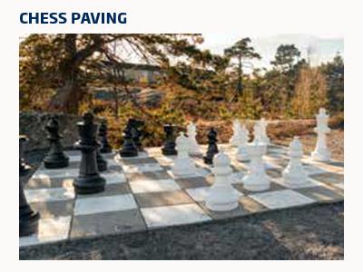 Oversized garden chess set