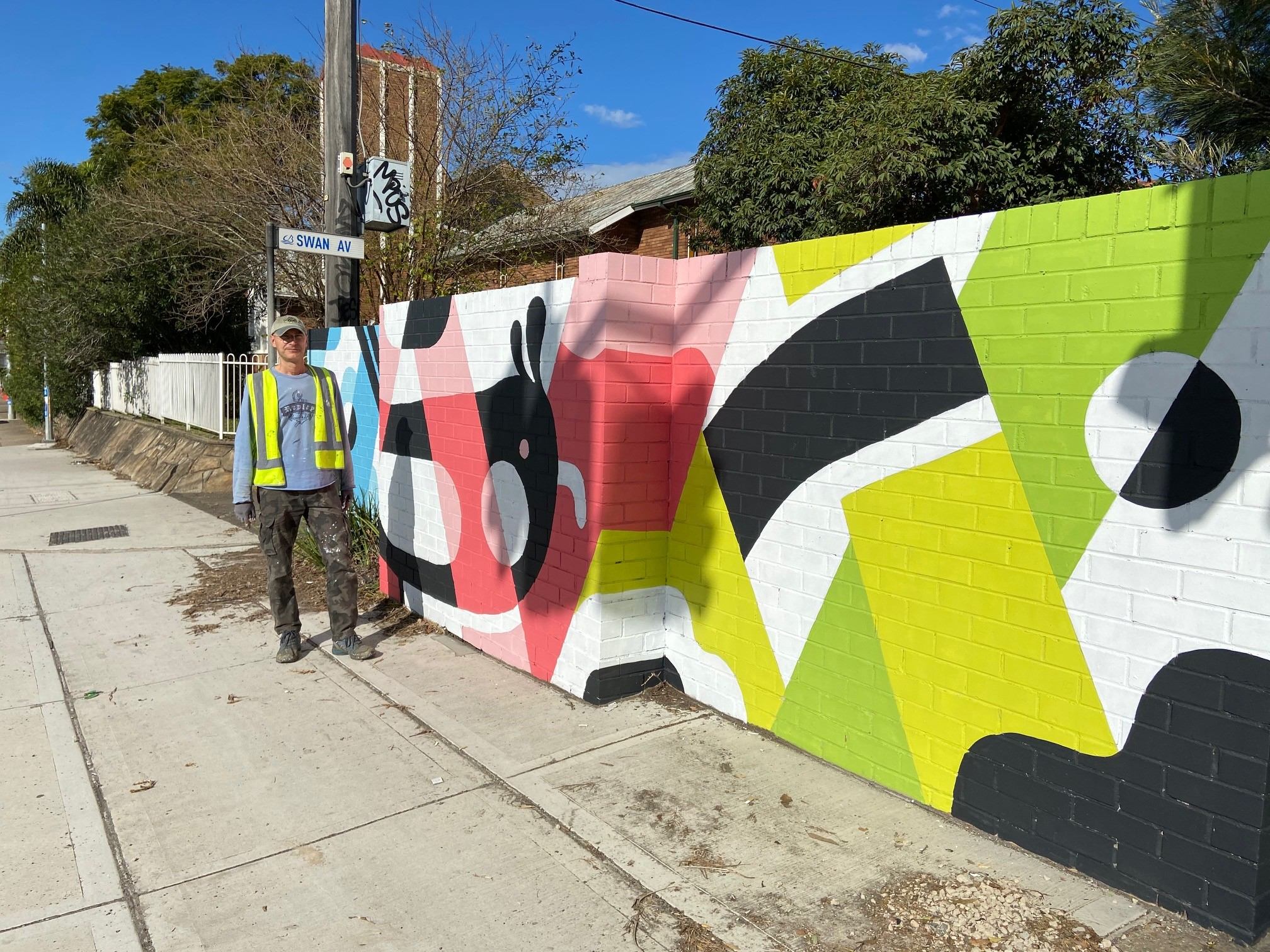 Finished Mural with artist Ignacio Querejeta
