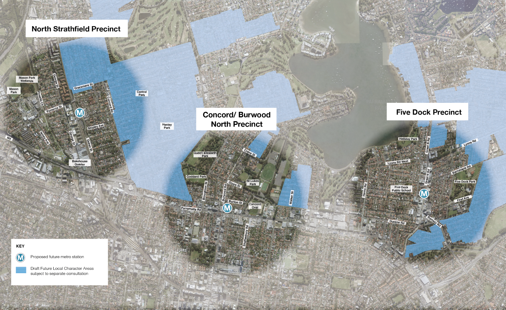 Three of the seven Sydney Metro West stations proposed by the NSW Government are located within the City of Canada Bay Local Government Area (LGA). These will be in North Strathfield, Five Dock and Concord/Burwood North.