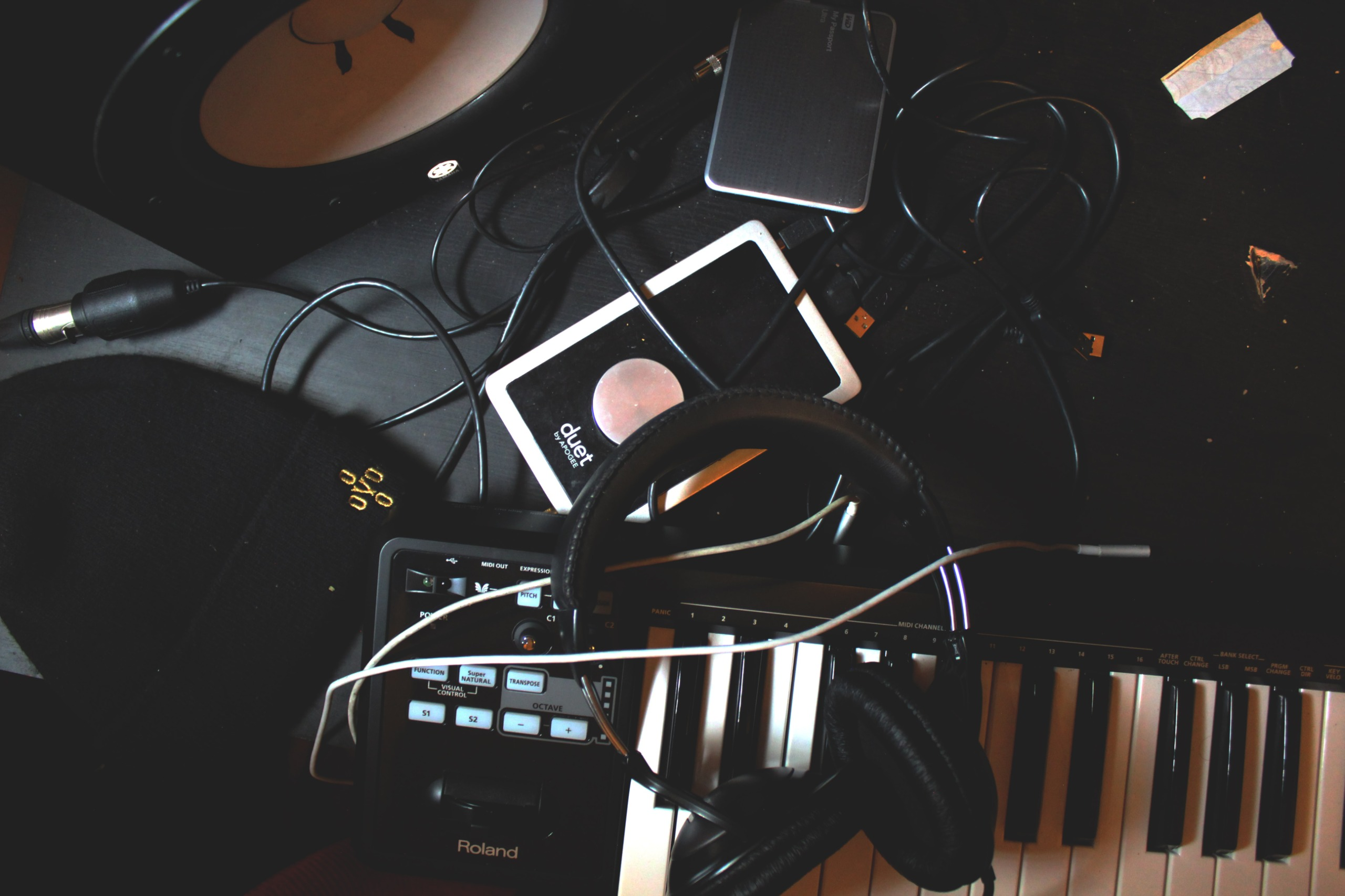 Keyboard and instrument cables