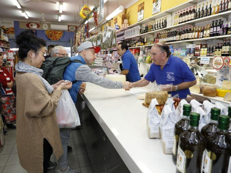 Customer being served