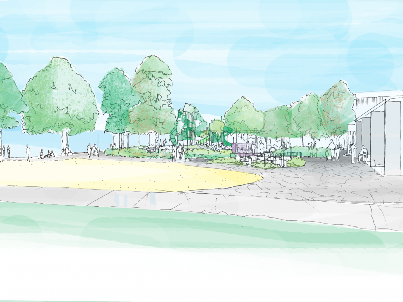 Sketch of completed play space