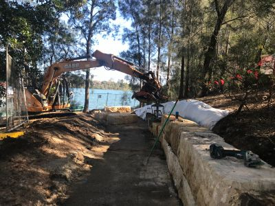 Stage two works at Wangal Reserve, Mortlake
