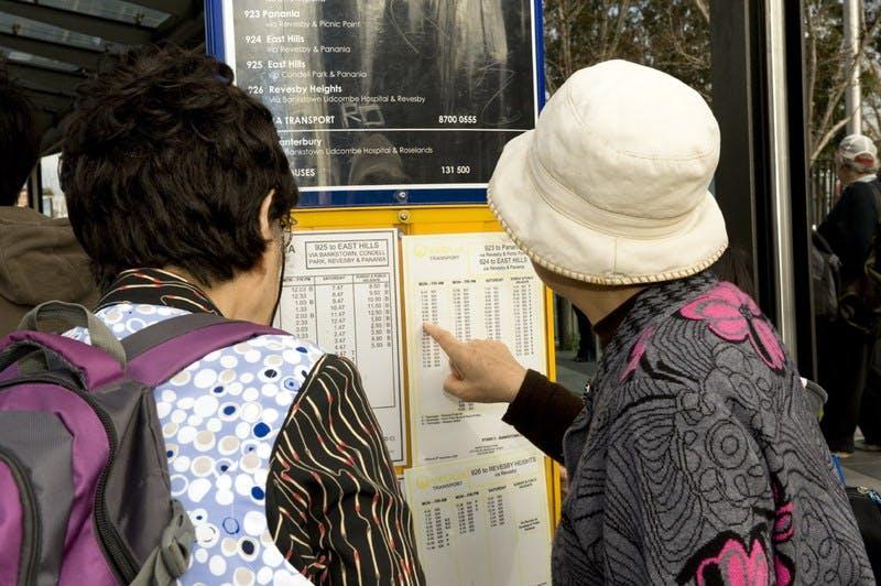 Looking at Bankstown Bus Interchange Timetable