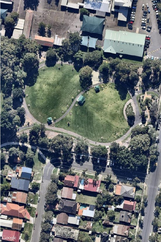 Aerial of Bankstown City Gardens