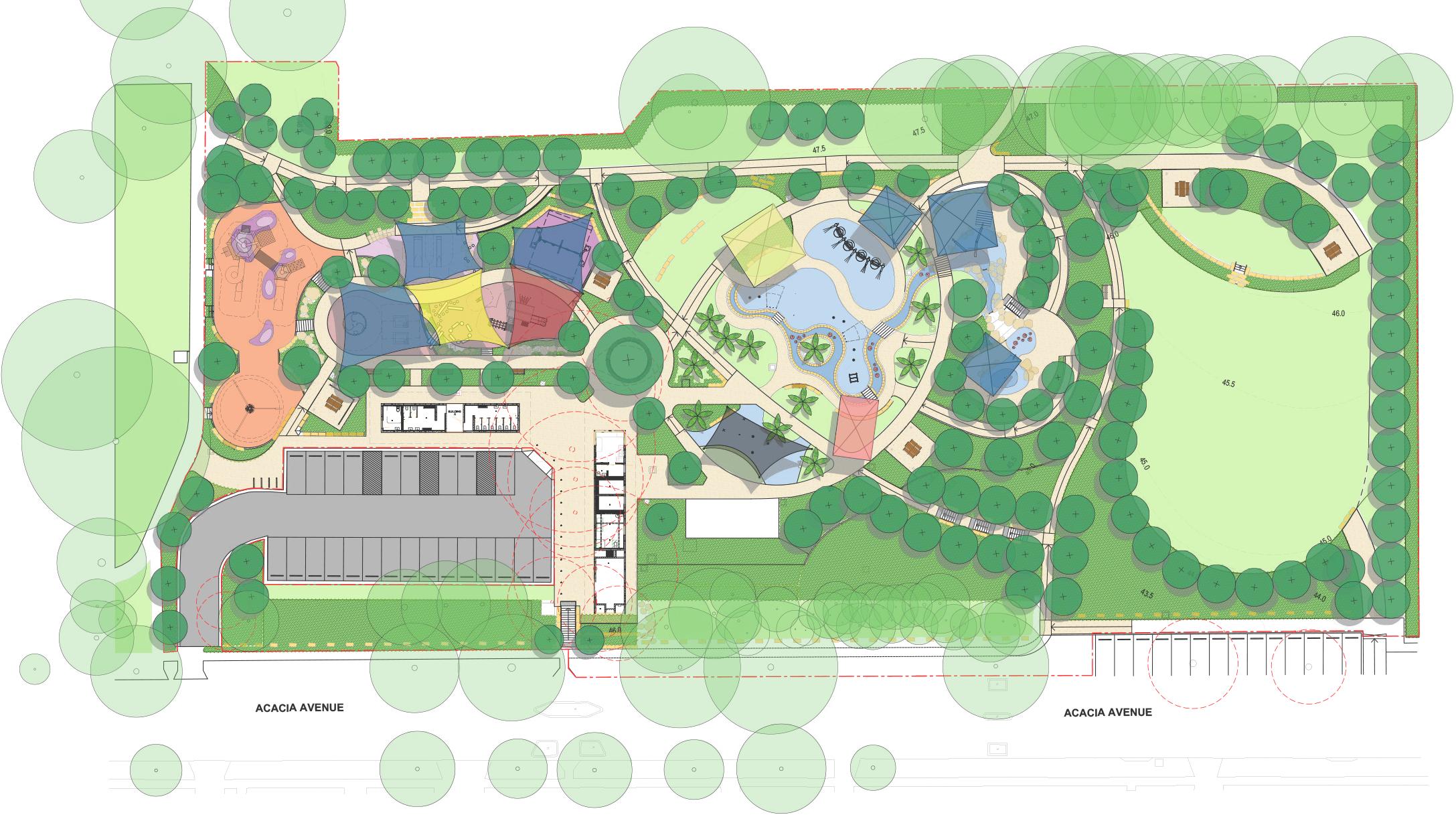 Greenacre Splash Park layout