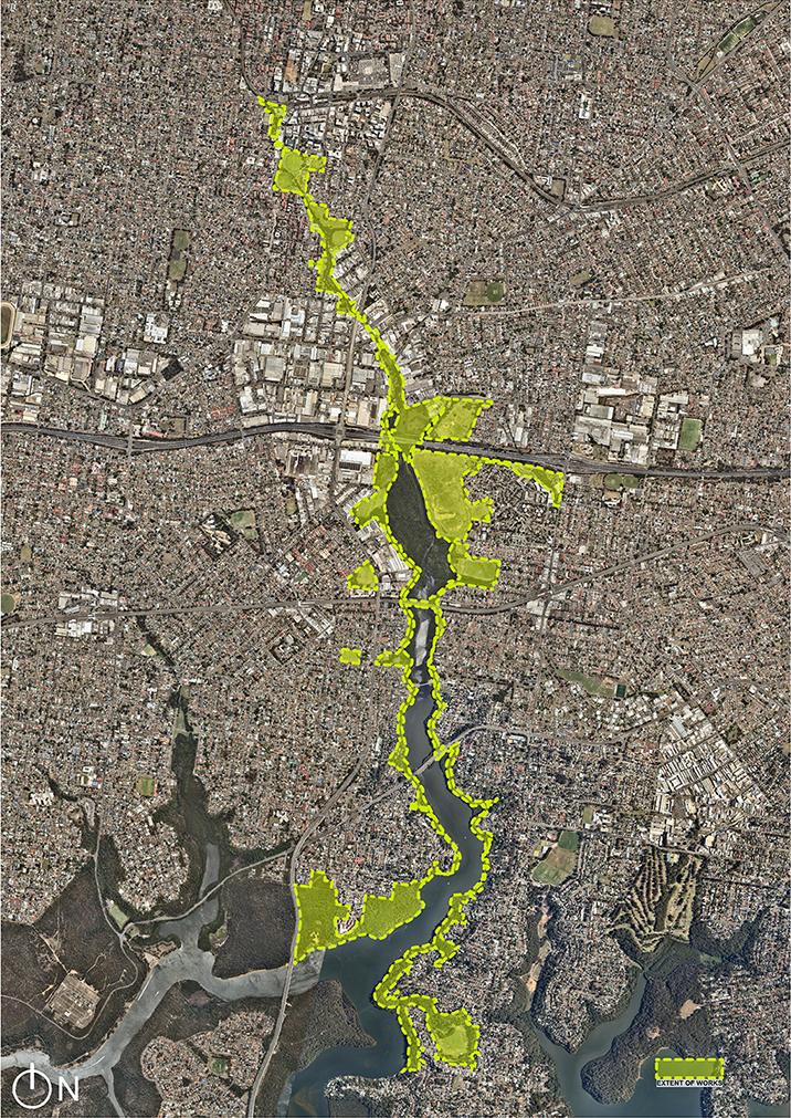 Salt Pan Creek Corridor extent of works