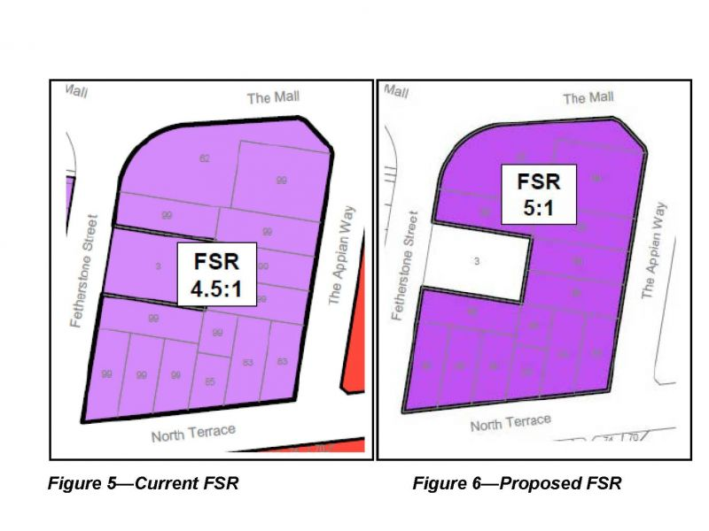 Figures 5 and 6 - Current and proposed FSR