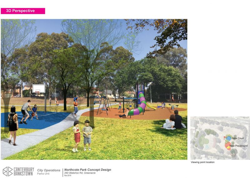 Northcote Park Concept Plan and Perspective
