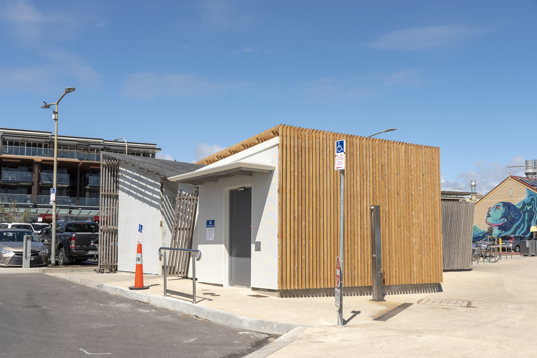 View of outside of Henley Beach Changing Place