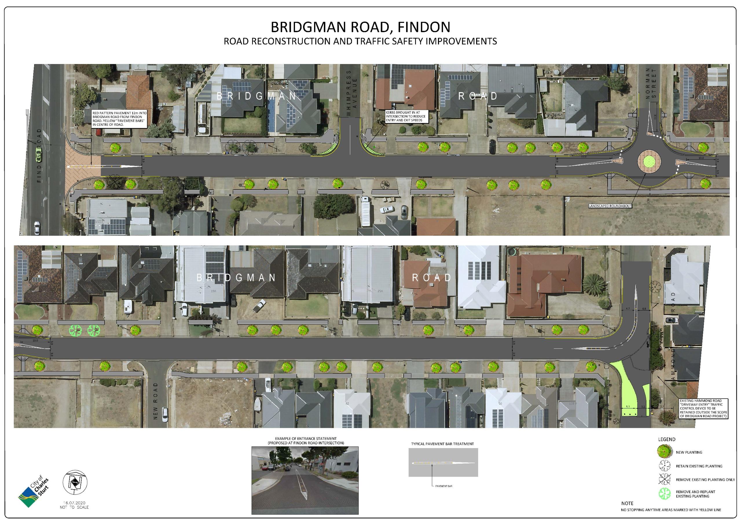 Bridgman Road concept plan
