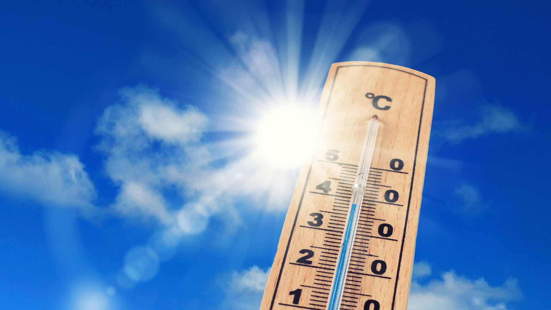 Temperature gauge showing high temperature