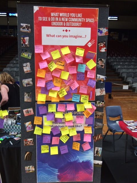 The board was filled with suggestions at the Youth Expo!