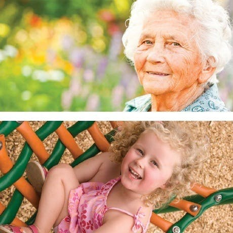 ​Senior women and young girl