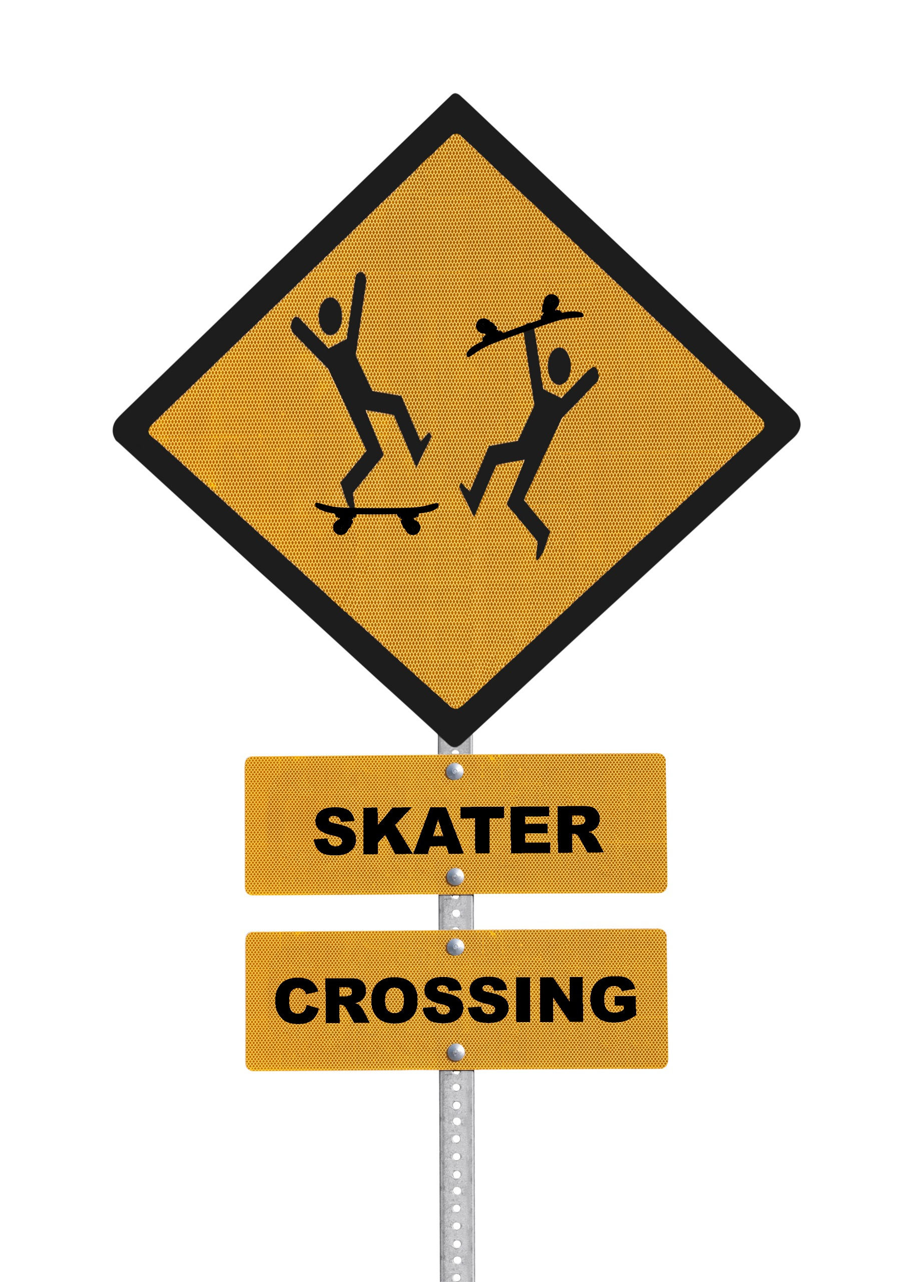 Skater crossing sign