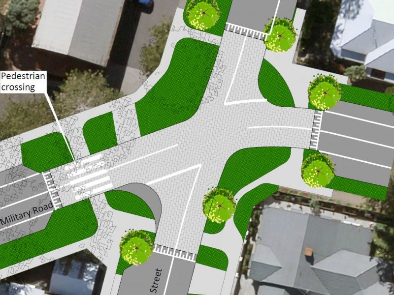 Option 1 - South Street, Raised Intersection