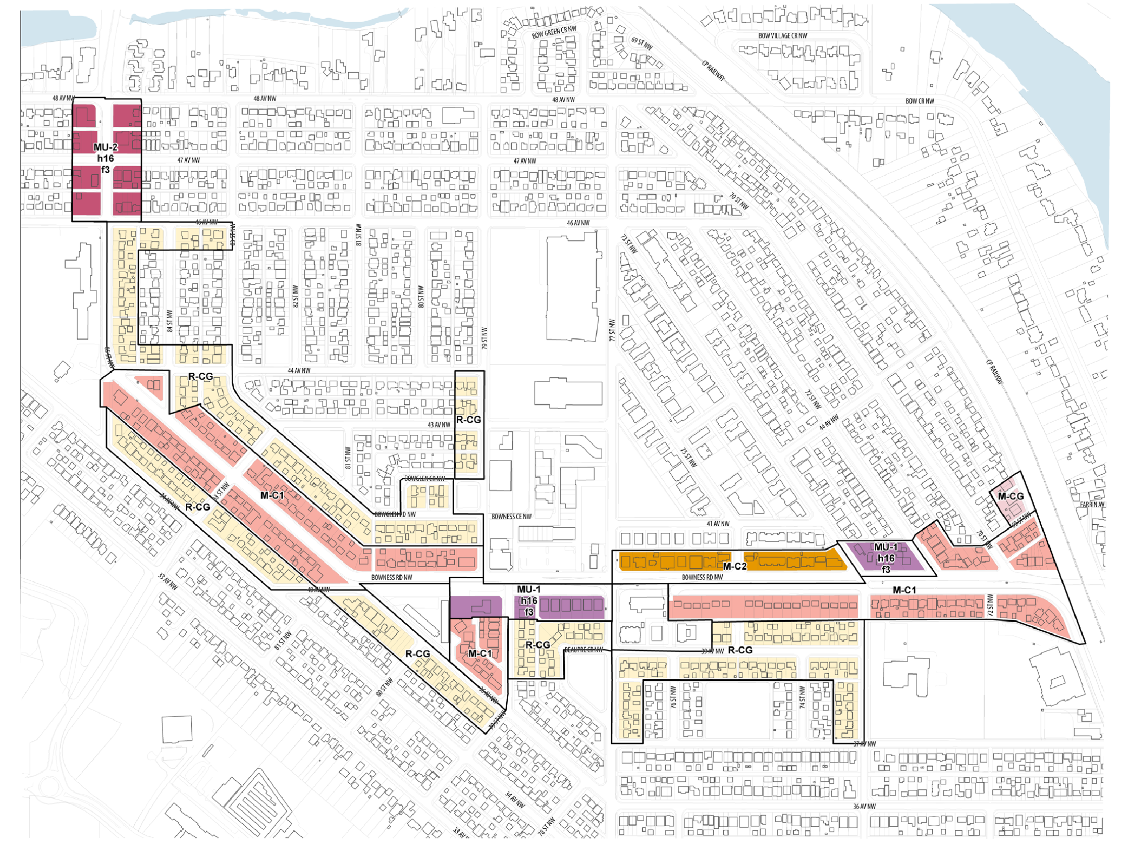 West Bowness Building Blocks Map