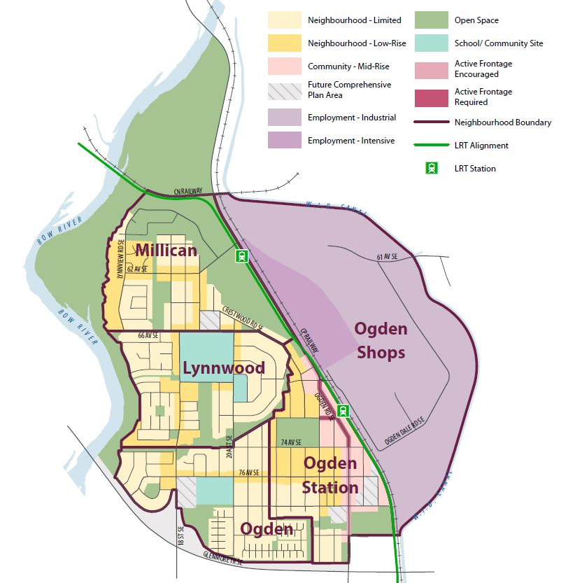 This map shows the proposed land use concept for Millican-Ogdeb