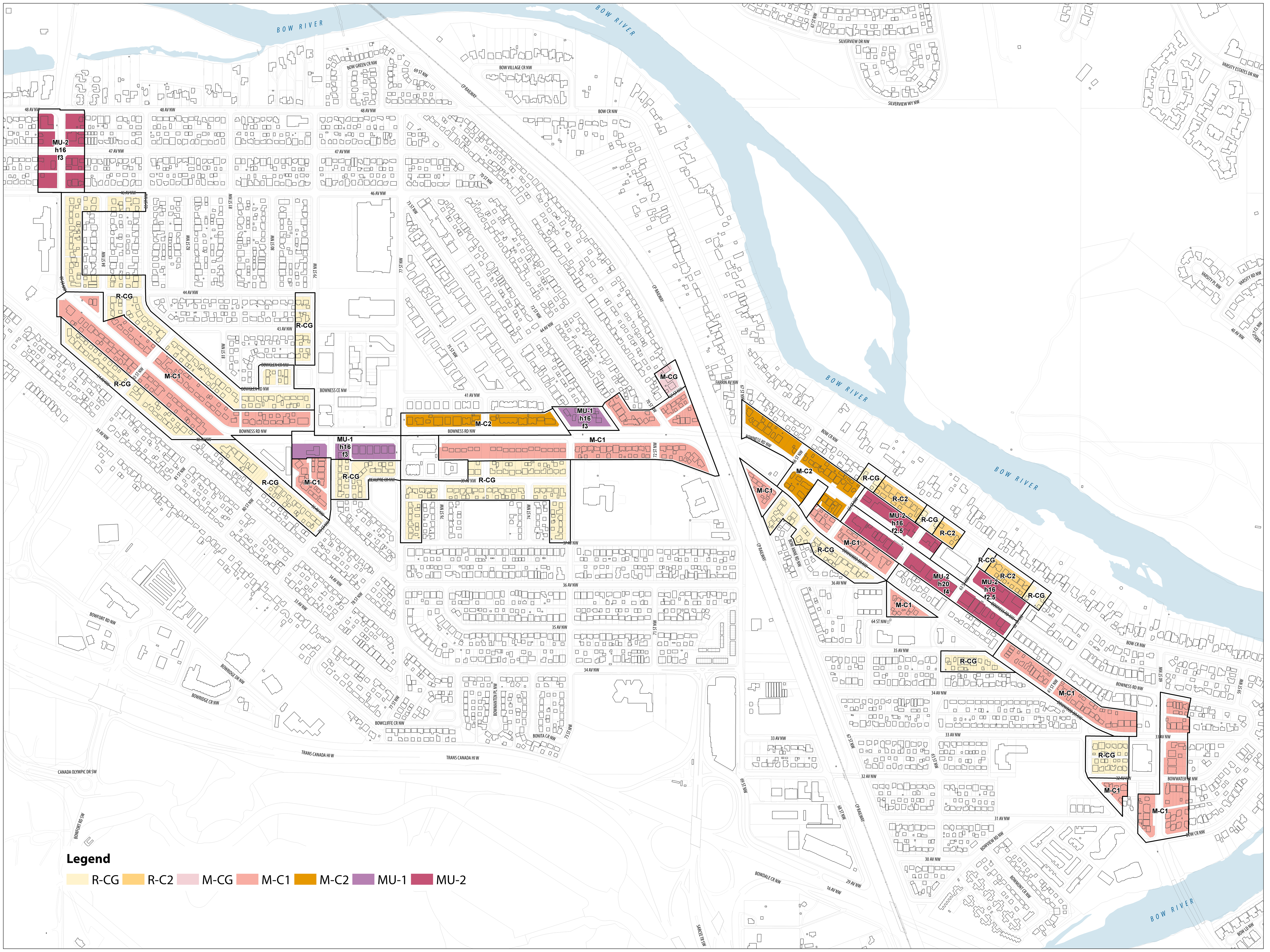 Map of proposed Bowness Road NW land use