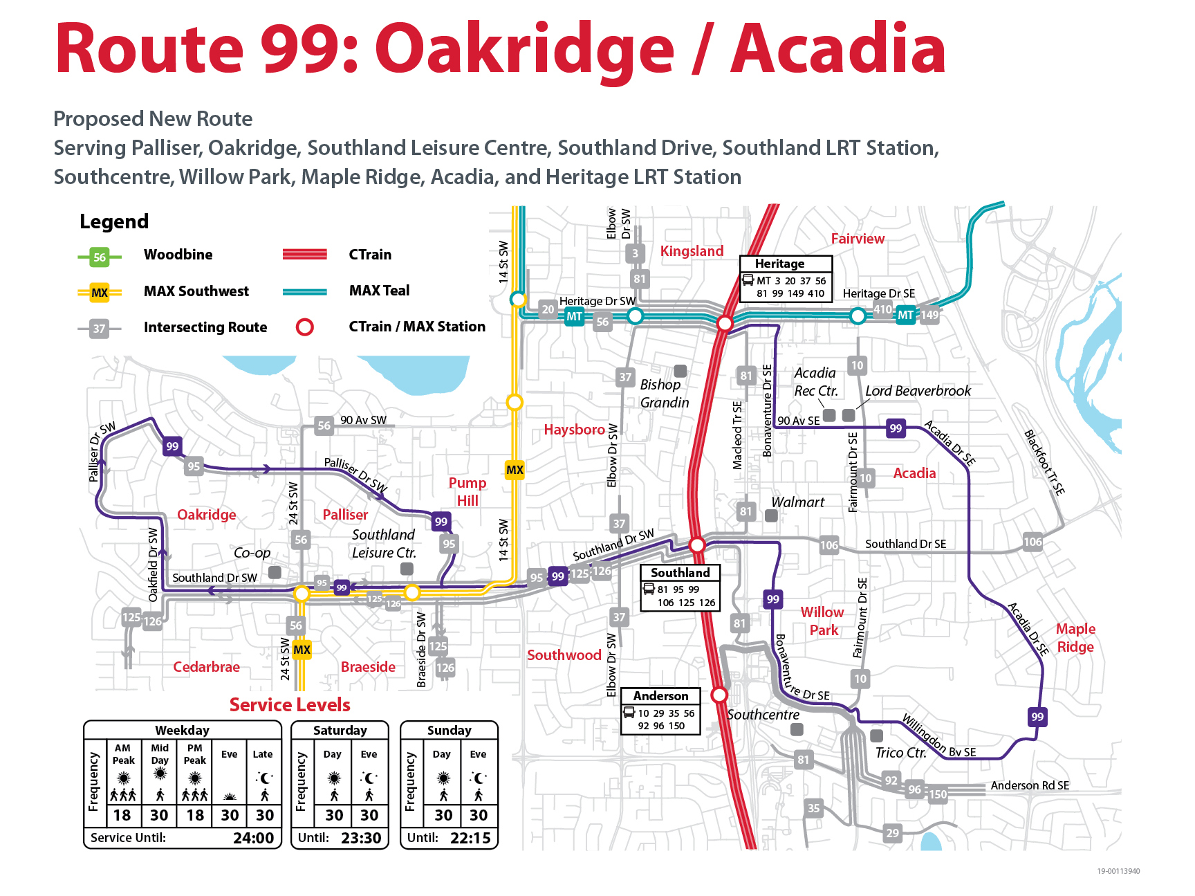 Proposed Changes to Route 99