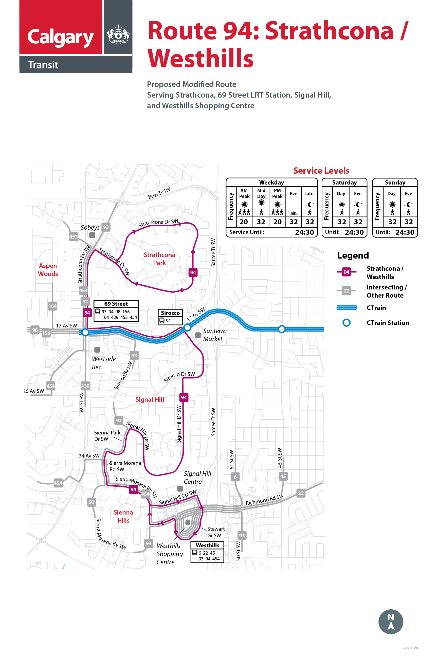 Proposed Changes to Route 94