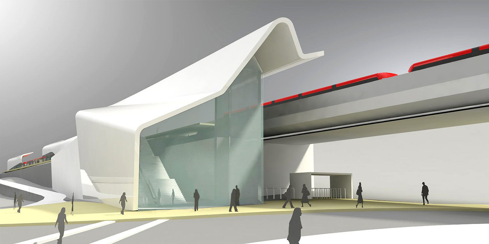 ​Elevated station concept rendering
