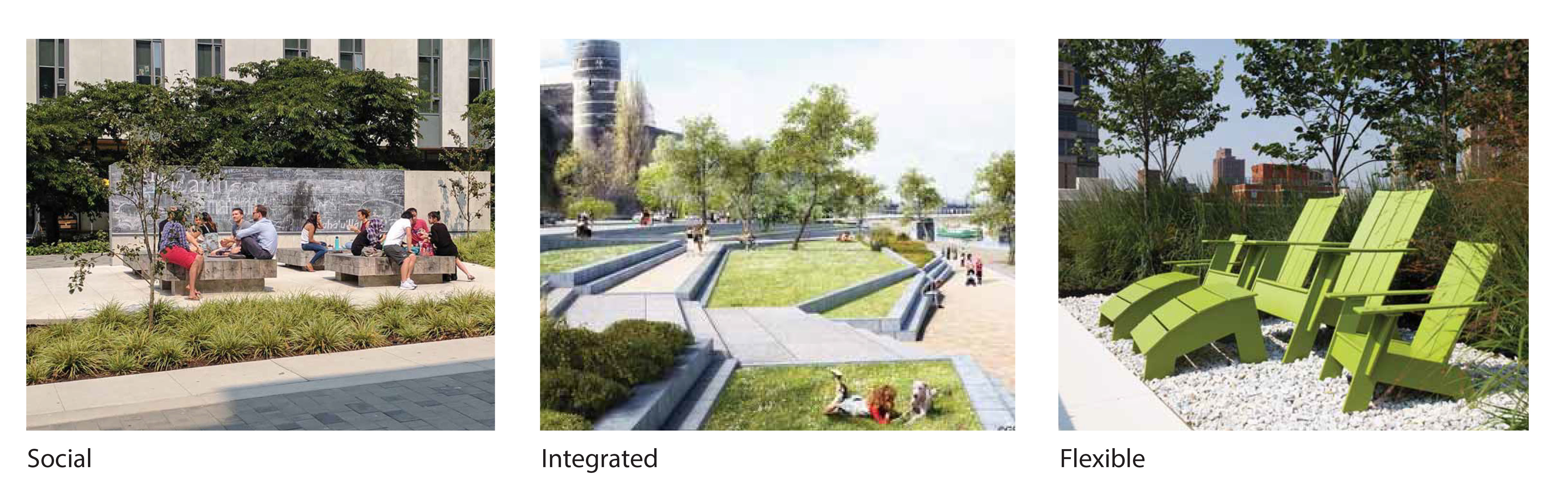 What type of seating would you like to see in the greenspace?