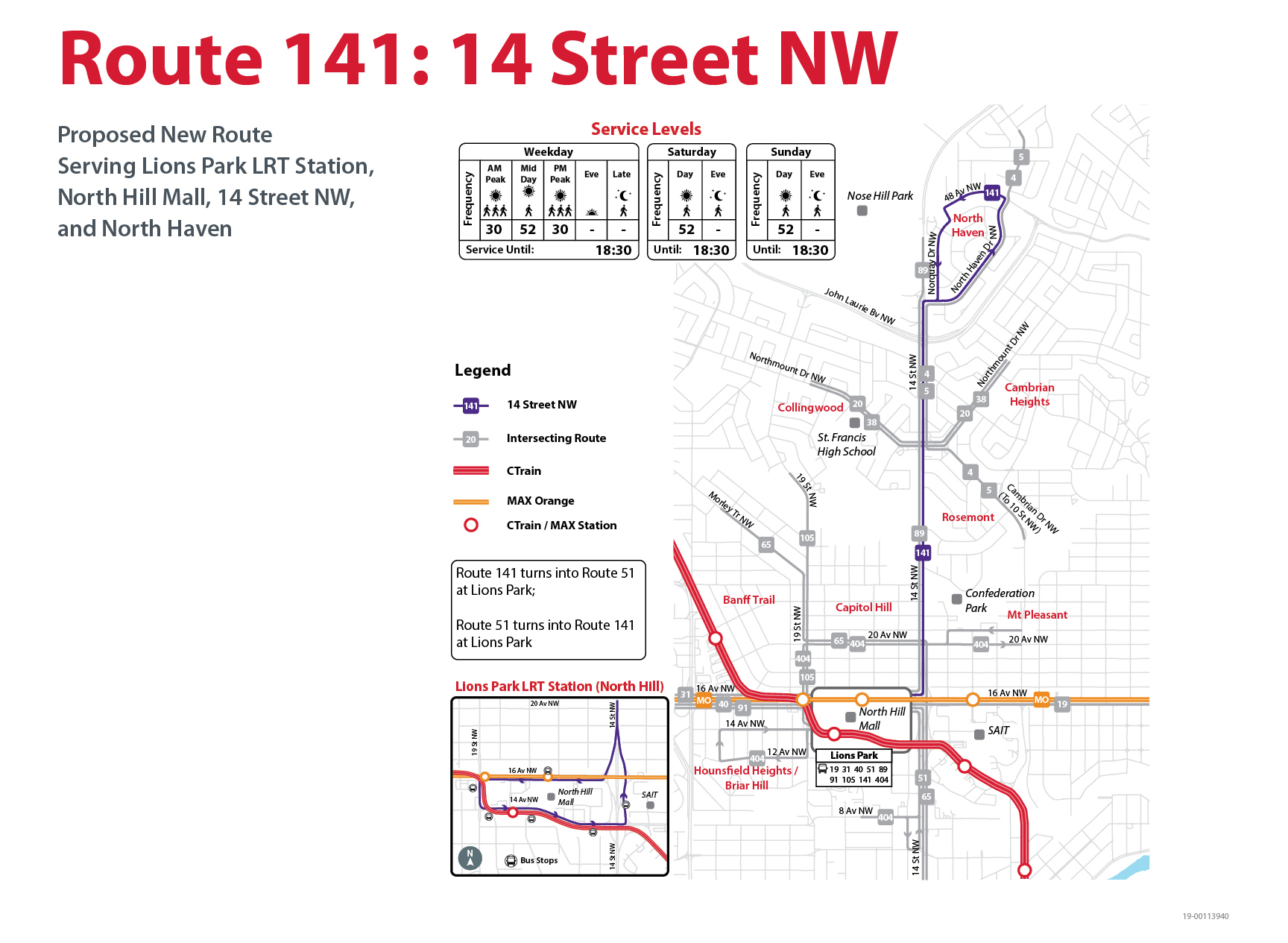Proposed Changes to Route 141