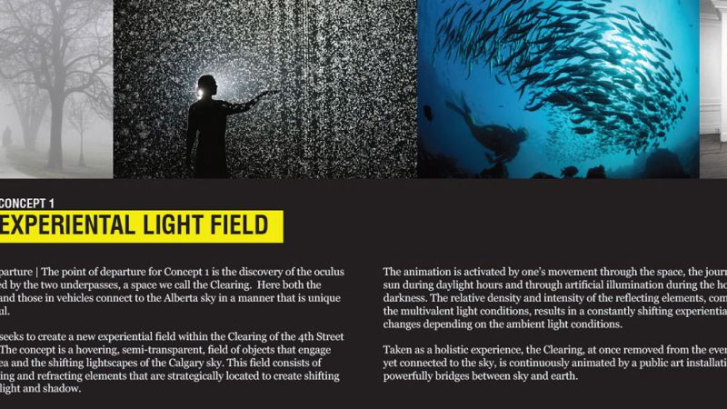 Design 1 Experiential light field concept description