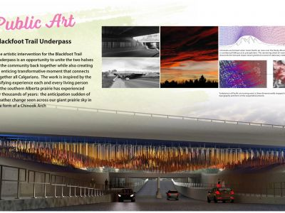 Artistic intervention for the Blackfoot trail underpass