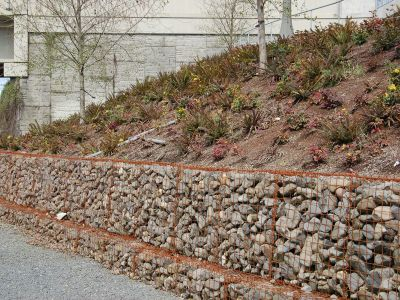 Rock, soil, landscaping