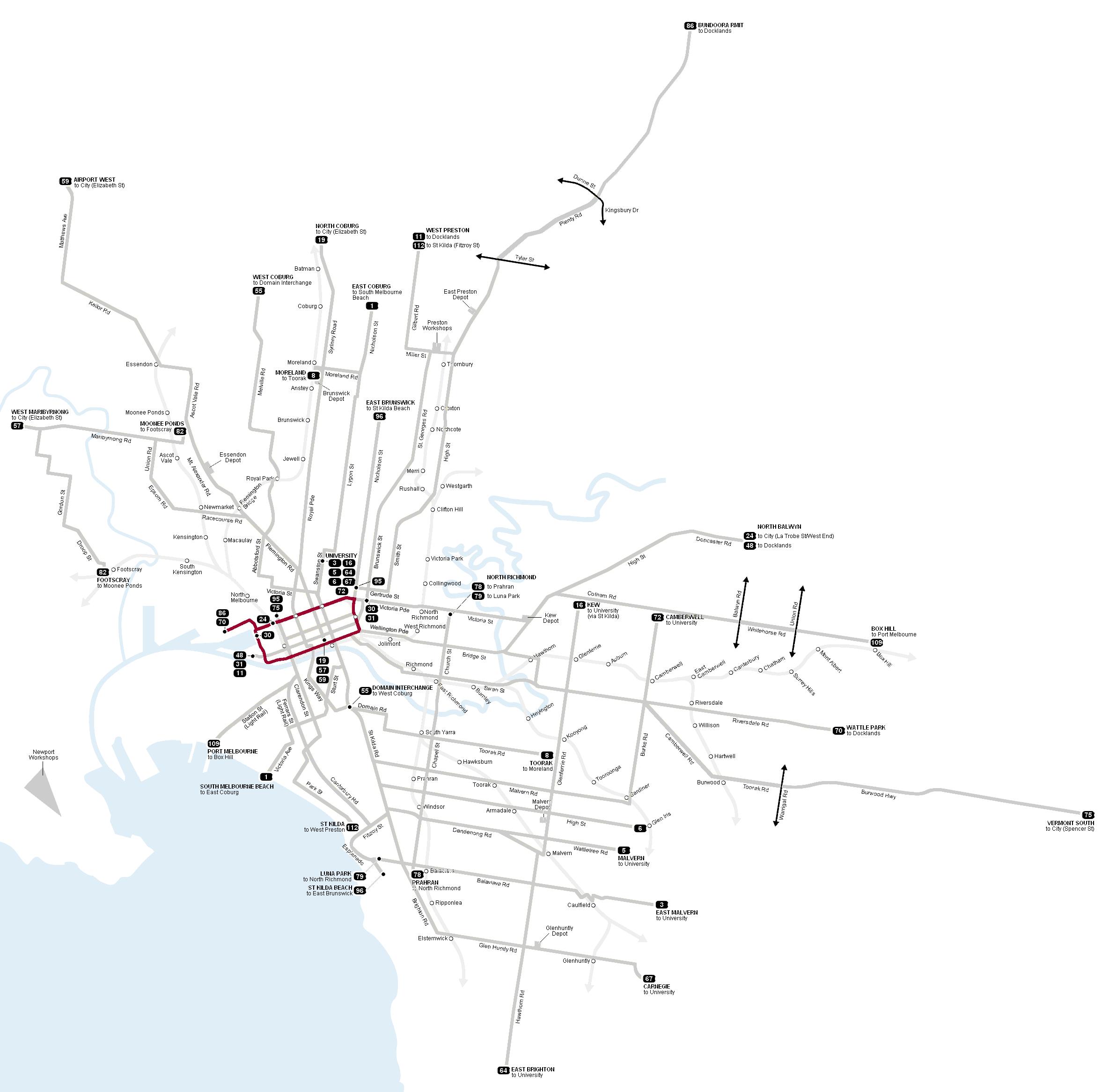 map of pilot 2 area