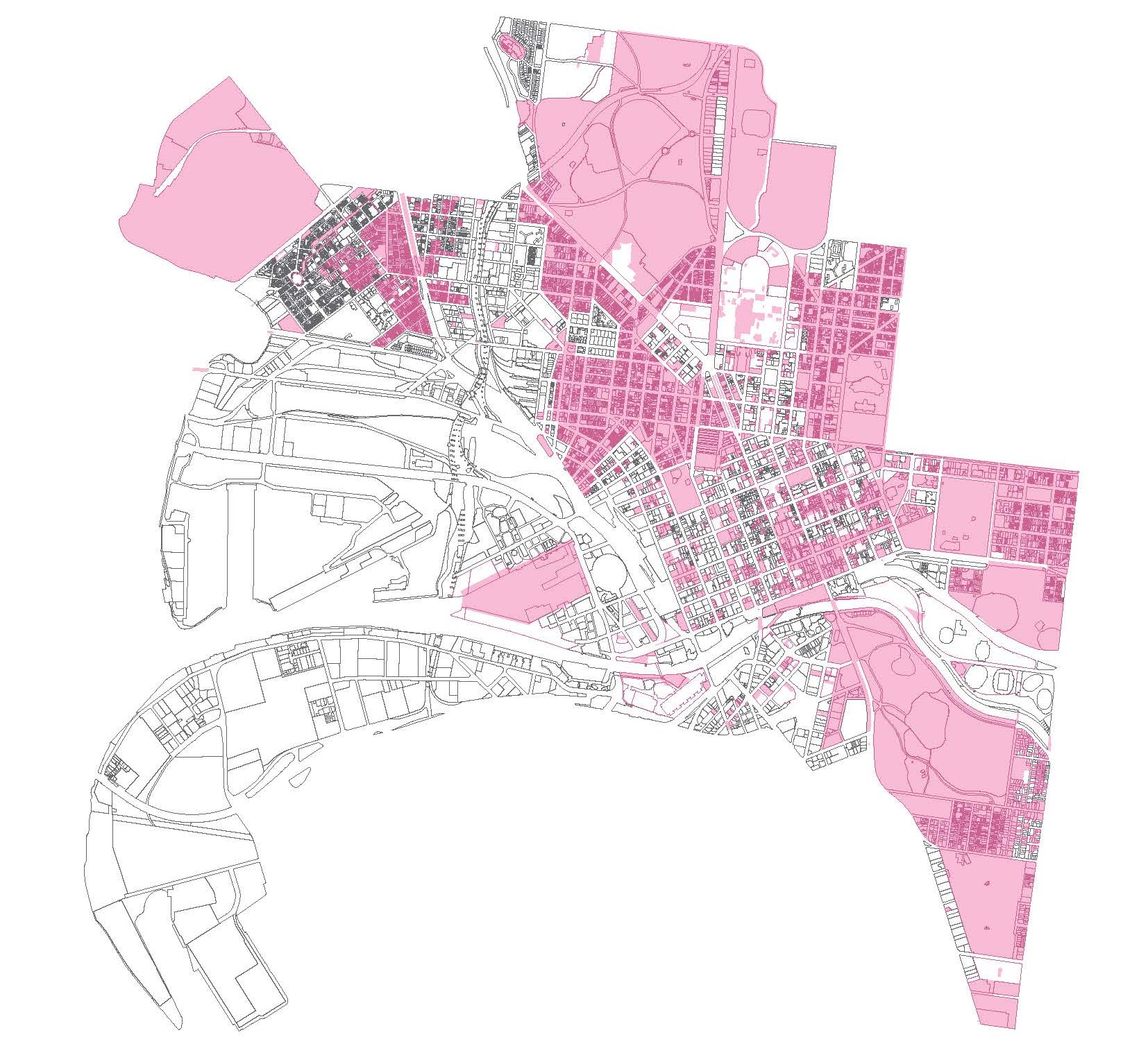 Map of heritage overlays that apply across the City of Melbourne