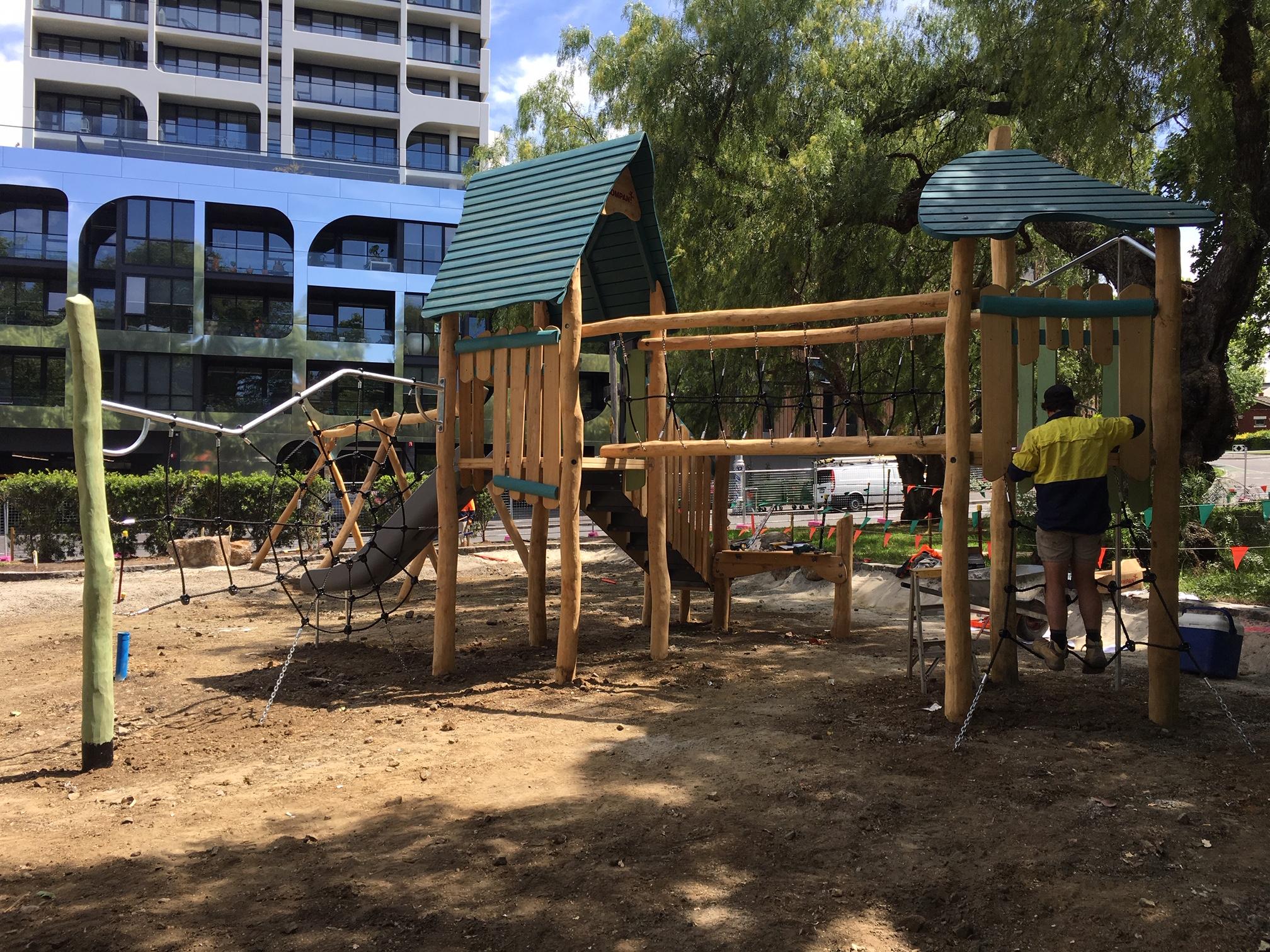 Playground under construction