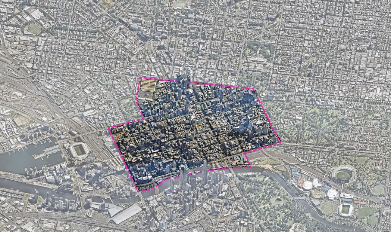 Map of the City of Melbourne study area for the plan