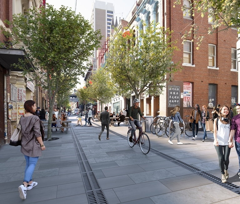Artistic impression of future Little Bourke Street