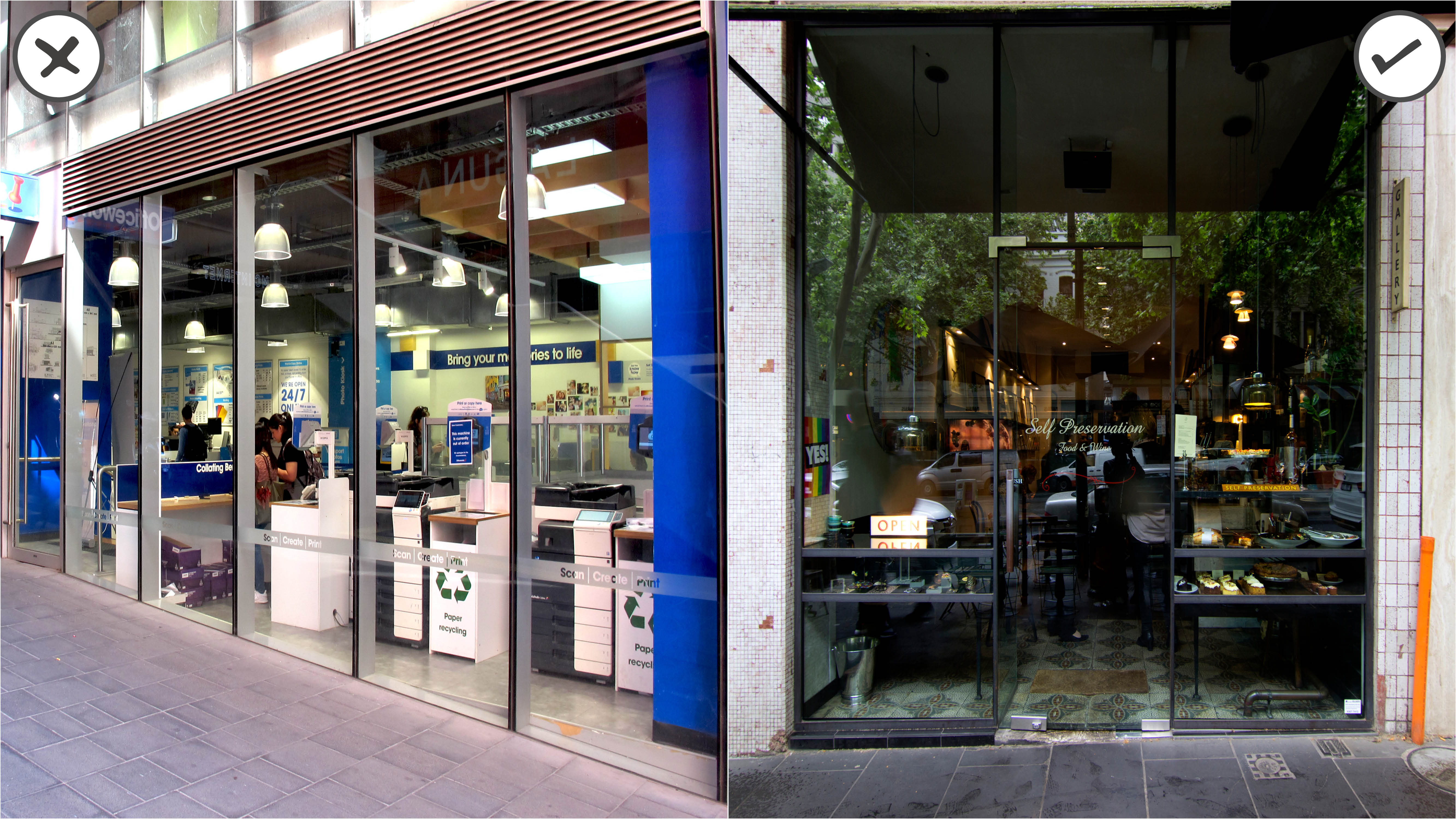 Shop front design examples