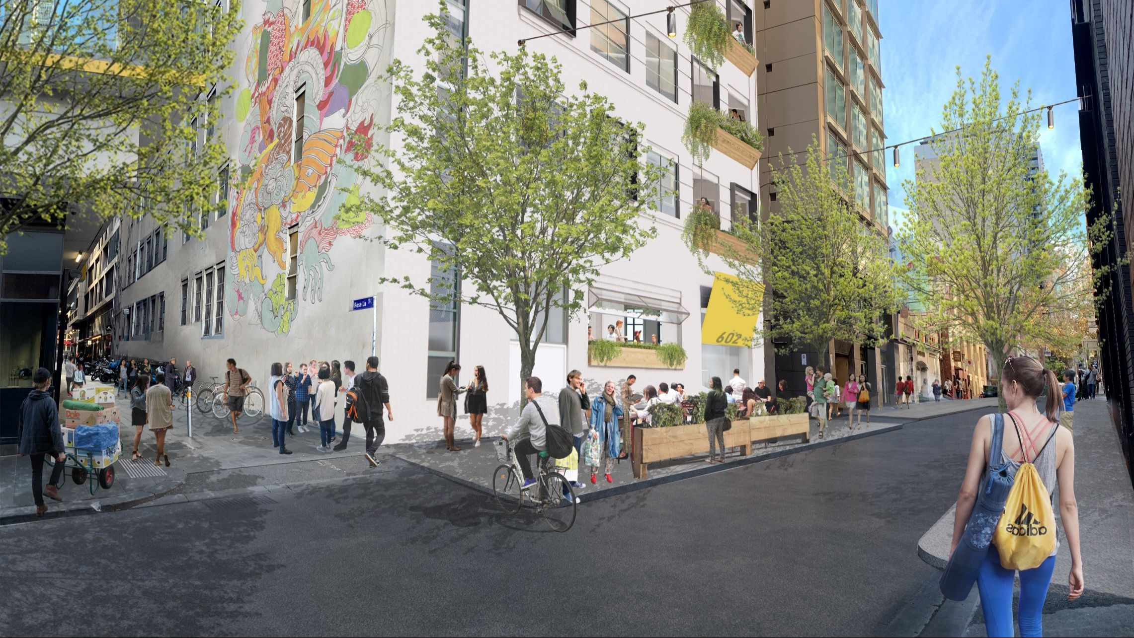 Artistic impression of 602 Bourke Street after the Make Room redevelopment