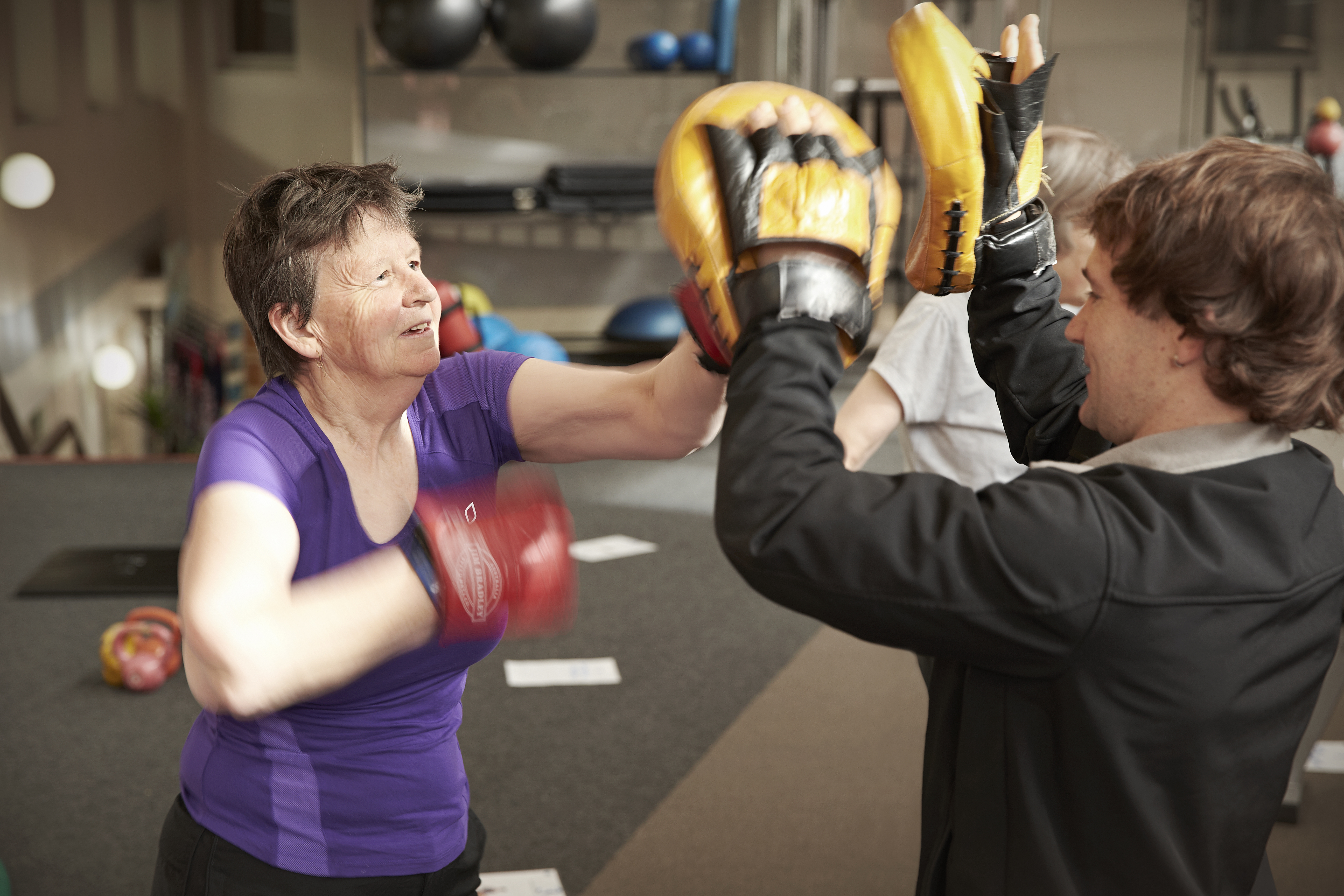 The Health Club has group fitness classes or exercise one on one with a personal trainer.