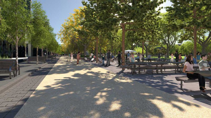 University Square – Barry Street new park spaces